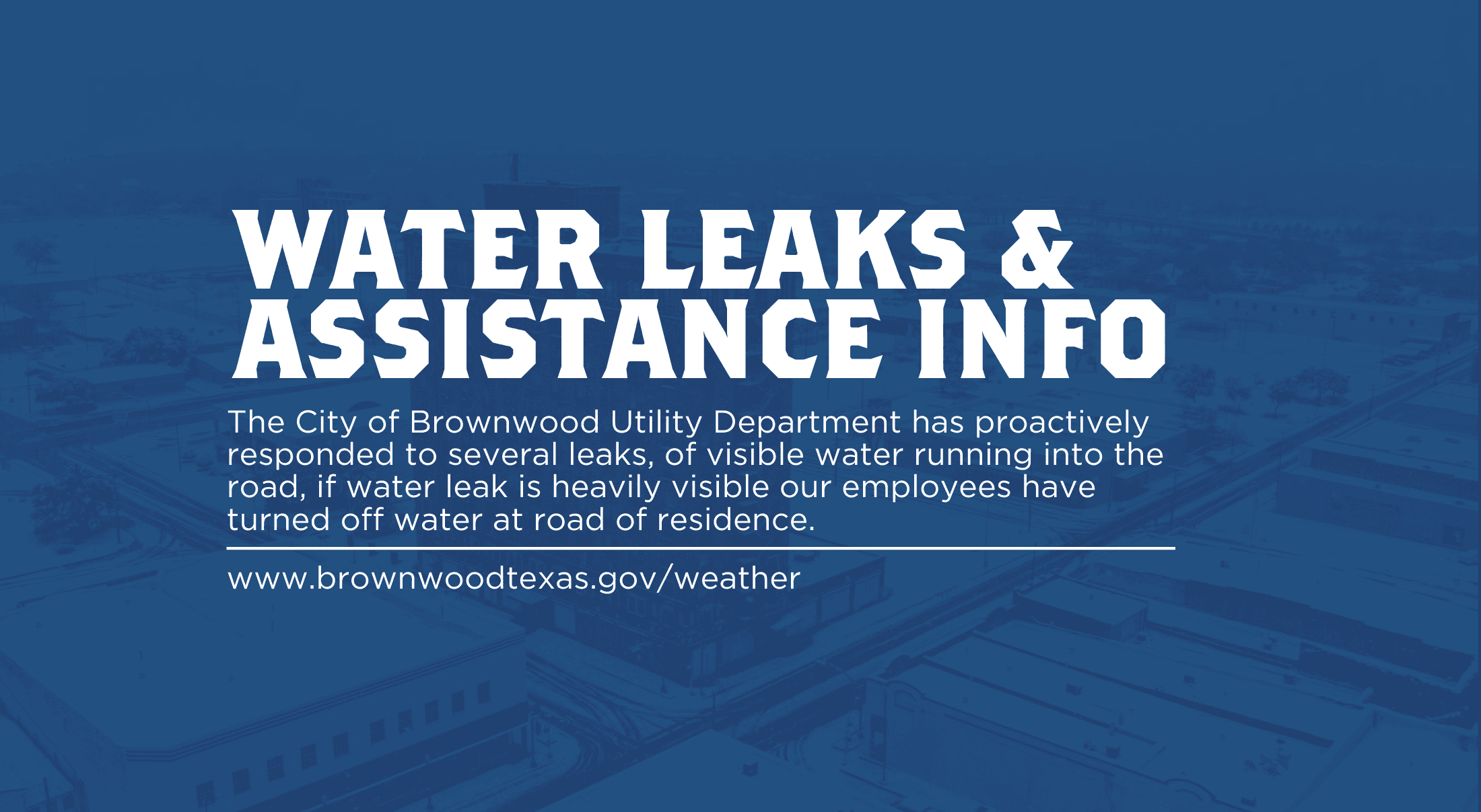 Water Leaks & Assistance